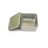 White Square Empty Tin