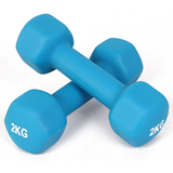 Women Children Metal Rubber Coating Dumbbell