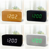 Wood Grain LED Clock