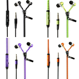 Zipper Earphone For Mobile Phone