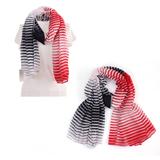 100% Polyester Fashion Stripe Long Scarf