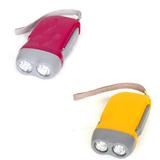 2 LED Hand Press Flashlight
