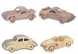 3D Wooden Car Puzzle