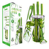 4 Pieces Non-stick Bamboo Printed Ceramic Knife Gift Set