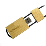 4GB Wooden And Bamboo USB Flash Drive With Stylish Rope