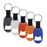 Aluminum Key Tag With Bottle Opener With Strap And Split