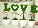 Artificial LOVE Decorations