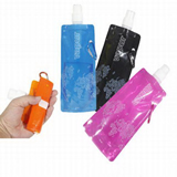 BPA free Plastic flat  water bottle bag