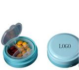 Blue Three Grids Empty Pill Case
