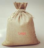 Burlap/Jute Drawstring Bag