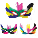 Children's Feather Mask Halloween Costume Party Mask