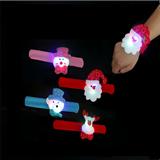 Christmas Flash Light Pat Ring Slap Bracelet LED Christmas D