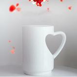 Coffee Mugs with Heart Shape Handle
