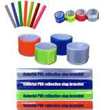 Colorful PVC Reflective Slap Bracelet