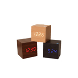 Cube Wood Clock