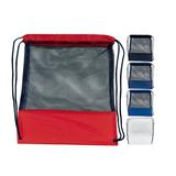 Customizable Mesh Drawstring Backpack