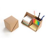Eco Memo Pad With Ccardboard Pen Holder