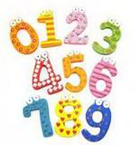 Educational Message Fridge Magnets- Number
