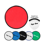 Folding Nylon Frisbee/promotion nylon frisbee with pouch