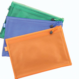 Grid Document Pouch With Zipper