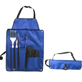 Grill Set With Apron;Outdoor Grill Set;5 pcs BBQ Grill Tool