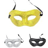 Halloween Costume Party Golden Shining Masks