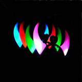 Halloween Ox Horn 2 LEDs Light Hairband Flash Hoop