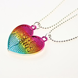 Heart Shaped Magnetic Necklace For BBF and Lovers