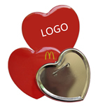 Heart Shaped Tinplate Badge