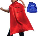Kids Satin Super Hero Cape  With Velcro Neck