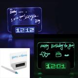 LED Fluorescent Message Board Digital Alarm Clock Calendar
