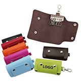 Leather Key Bag with Multi Key Holders