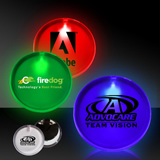 Lighted Glow LED Button Pin Badge