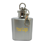 Mini 1oz Stainless Steel Flask With Keychain