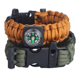 Multi Survival Bangles With Compass and Flint