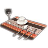 Multi-color Stripe Plate Cup Coaster