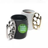 New Design Fist Metal Handle Ceramic Mug
