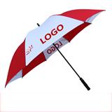 Promotion Fiber Glass Shaft Double Canopy Golf Umbrella