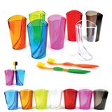 Promotional Dazzle Color Transparent Wash Gargle Cup