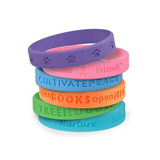 Promotional Debossed Silicone Bracelet