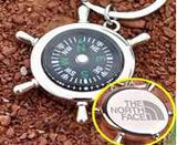 Rudder Compass Key Chain
