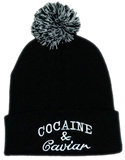 Solid Color Pom Pom Knit Beanie With Cuff