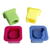 Square Single Cup Silicone Ice Shoot Tray Mold