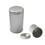 White Round Empty Tin