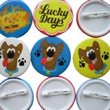 various styles custom metal tin button badges tinplate badge